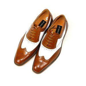 UV Signature Vegan Leather Wingtip Oxford Shoes